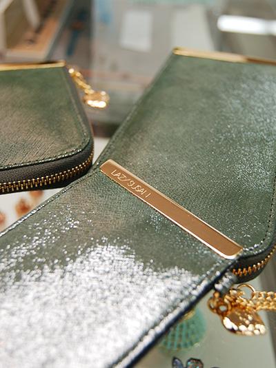 ウォレット メタルハート(グリーン・緑・財布)
