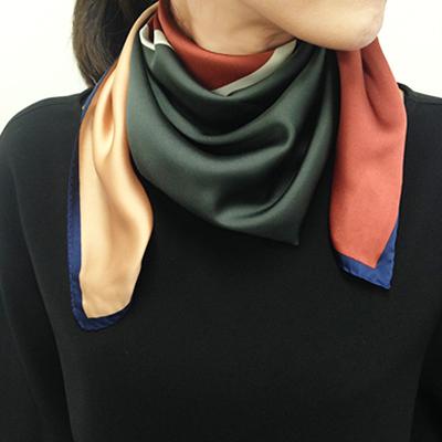 スカーフ カラーブロック