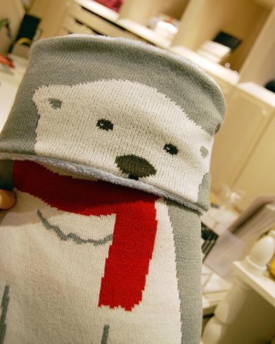 クッション メリーニット(白熊)